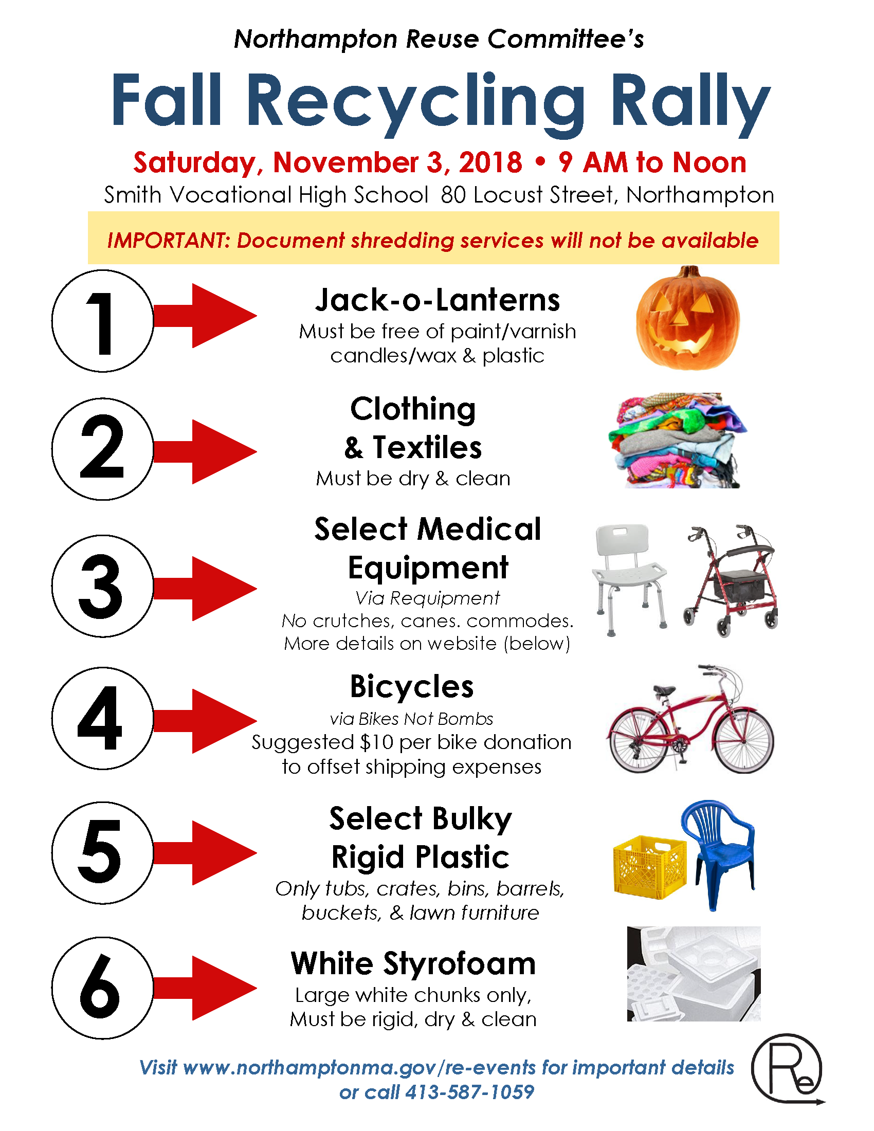 Image of Fall Recycling Rally flyer - 2018