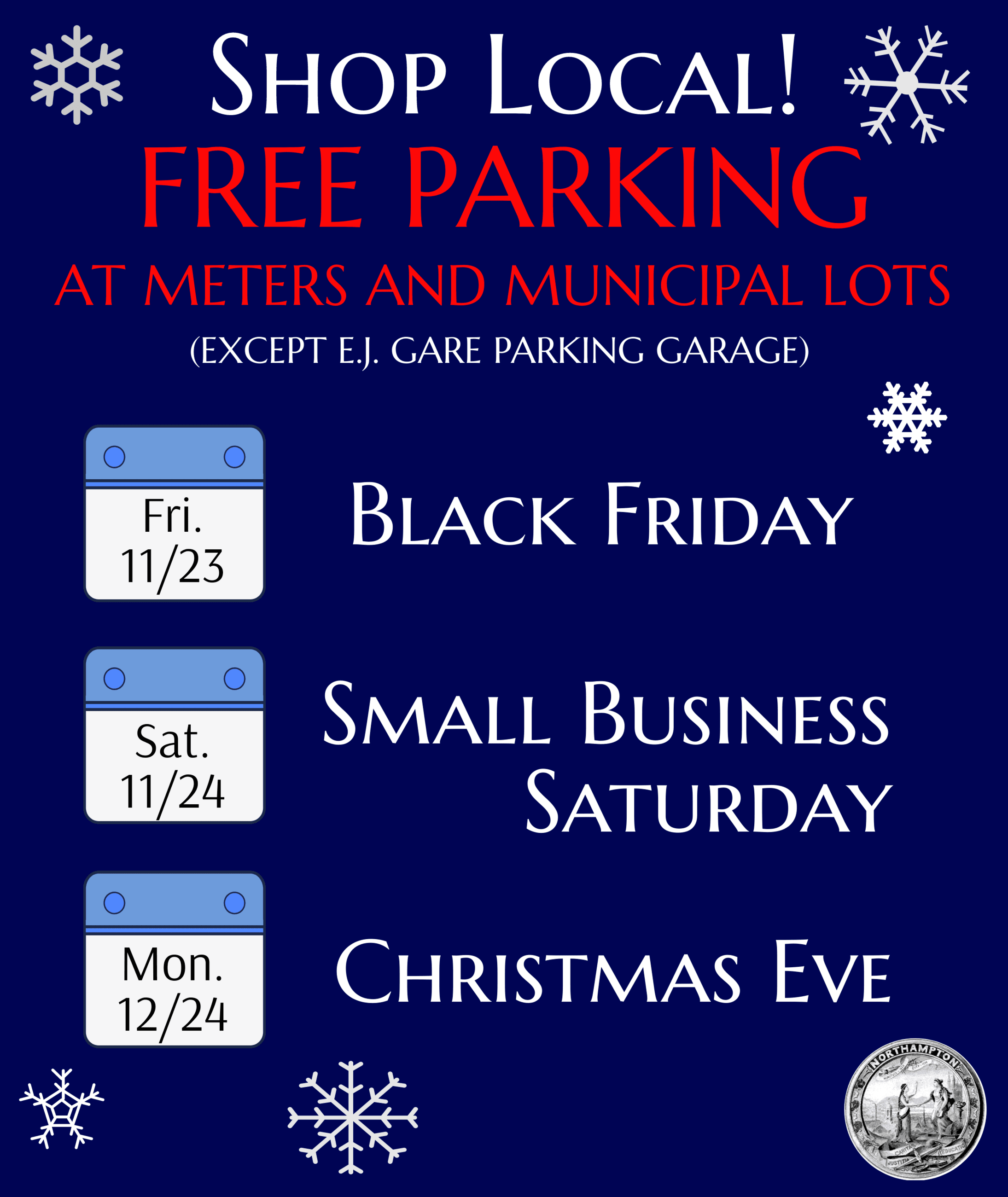 Image of Shop Local Free Parking flyer