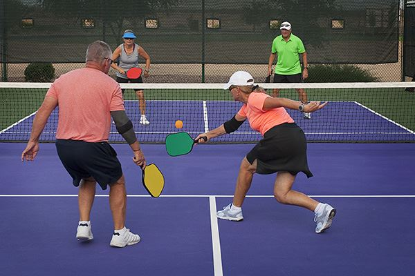 Pickleball picture of people playing