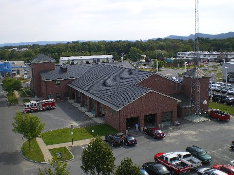 Aerial View of Northampton Fire Department Headquarters