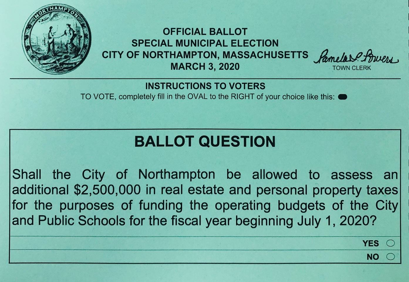 Image of the Prop 2½ Ballot Question