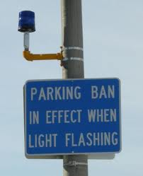 blue light parking ban
