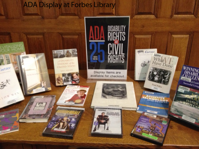 ADA Anniversary Celebration Exhibit at Forbes Library