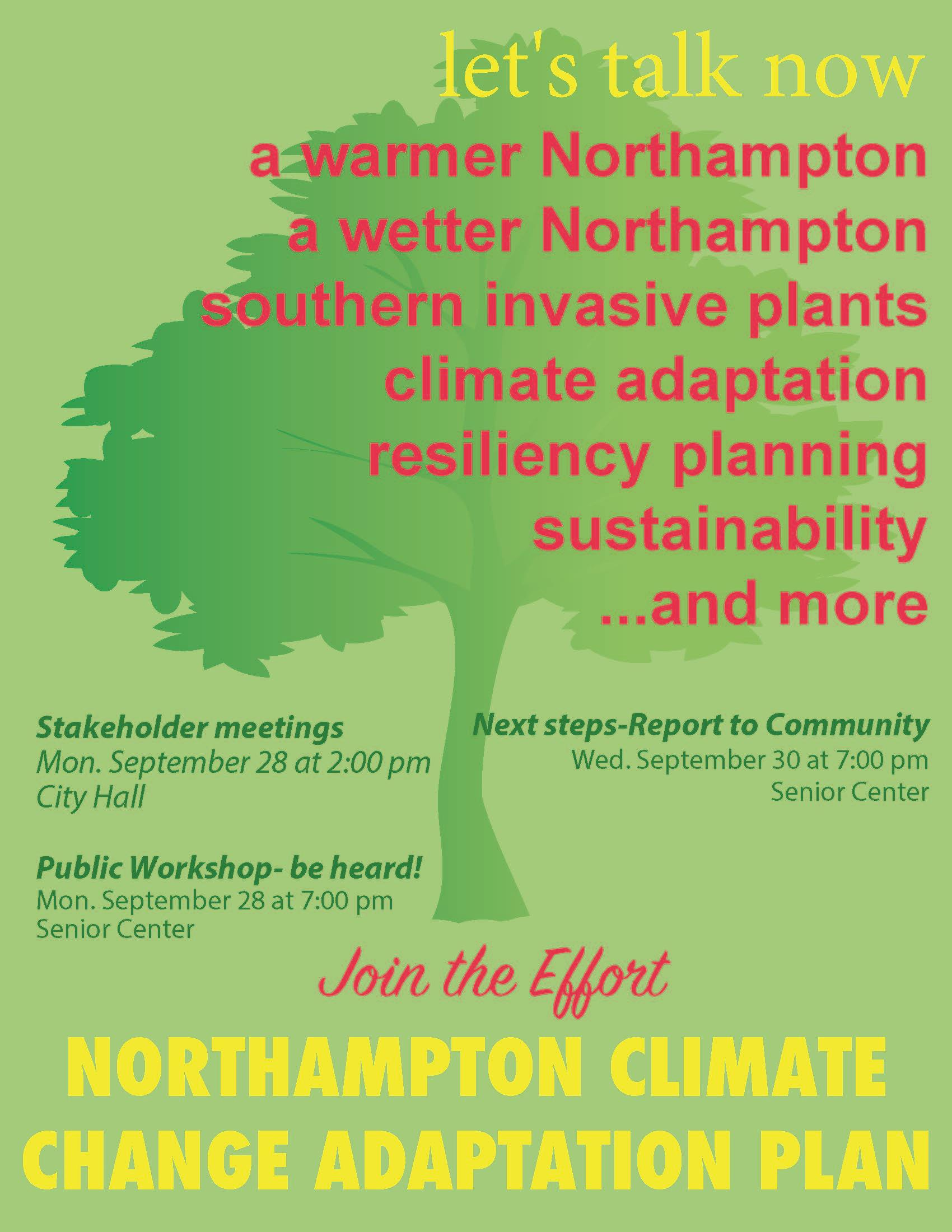 Flyer for Climate Adaptation Meeting with Stakeholders