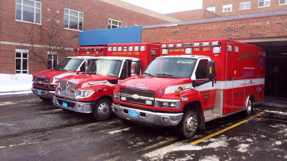 Emergency Vehicles in Parking Lot