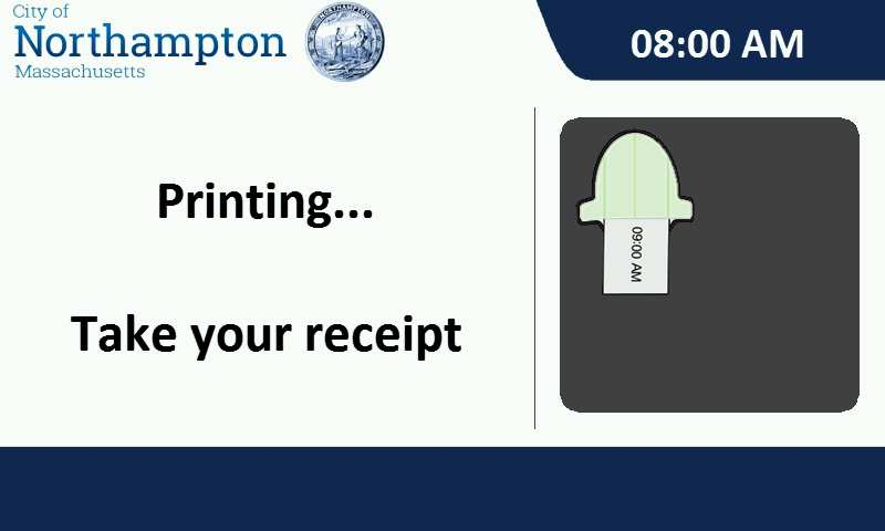 printing take your receipt