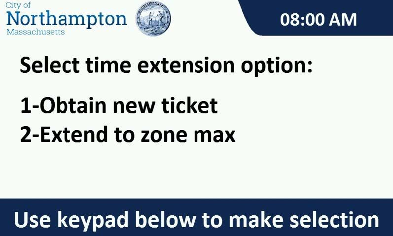 Select ticket option