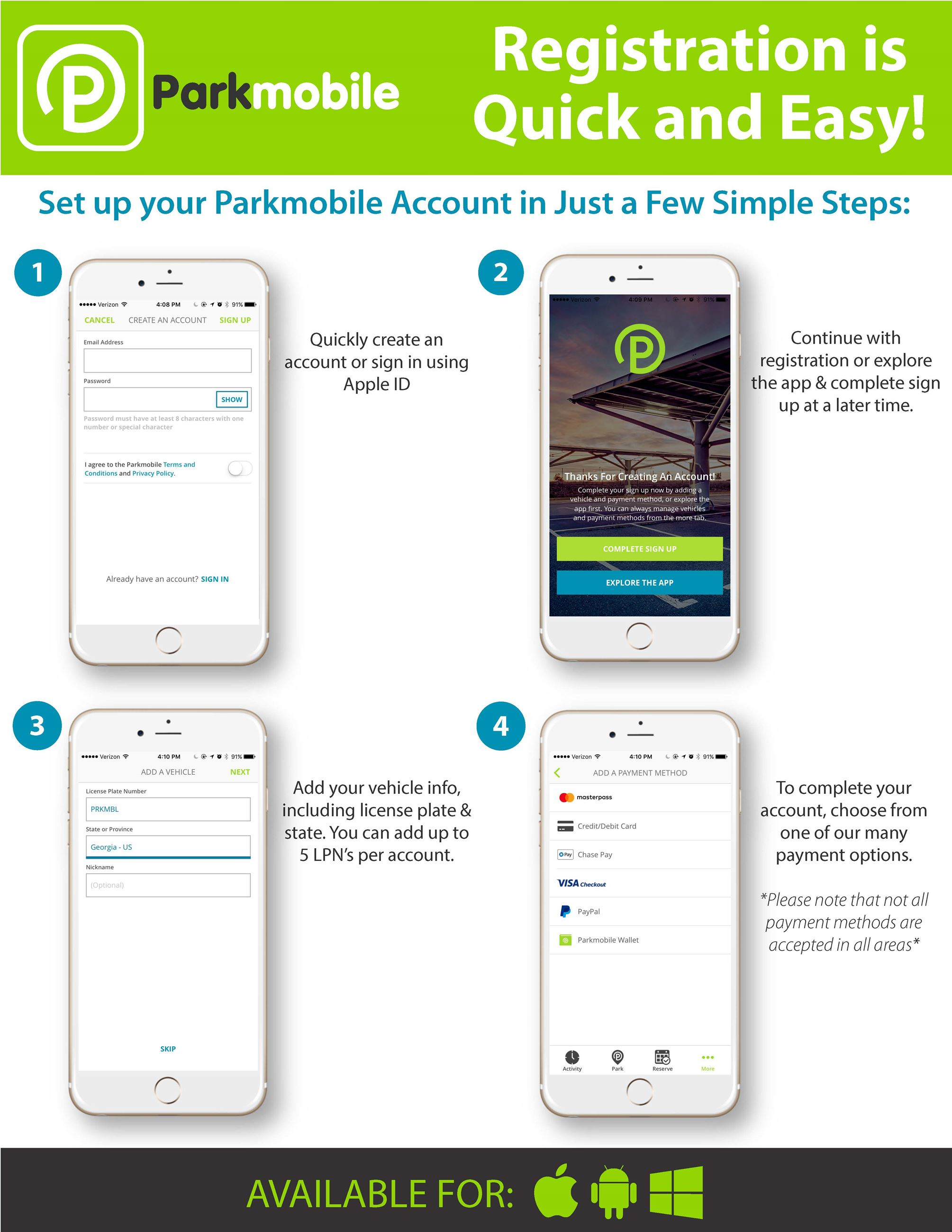 How to Use Parkmobile info sheet 2