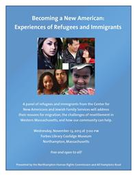 Northampton Human Rights Commission Refugee Panel Poster