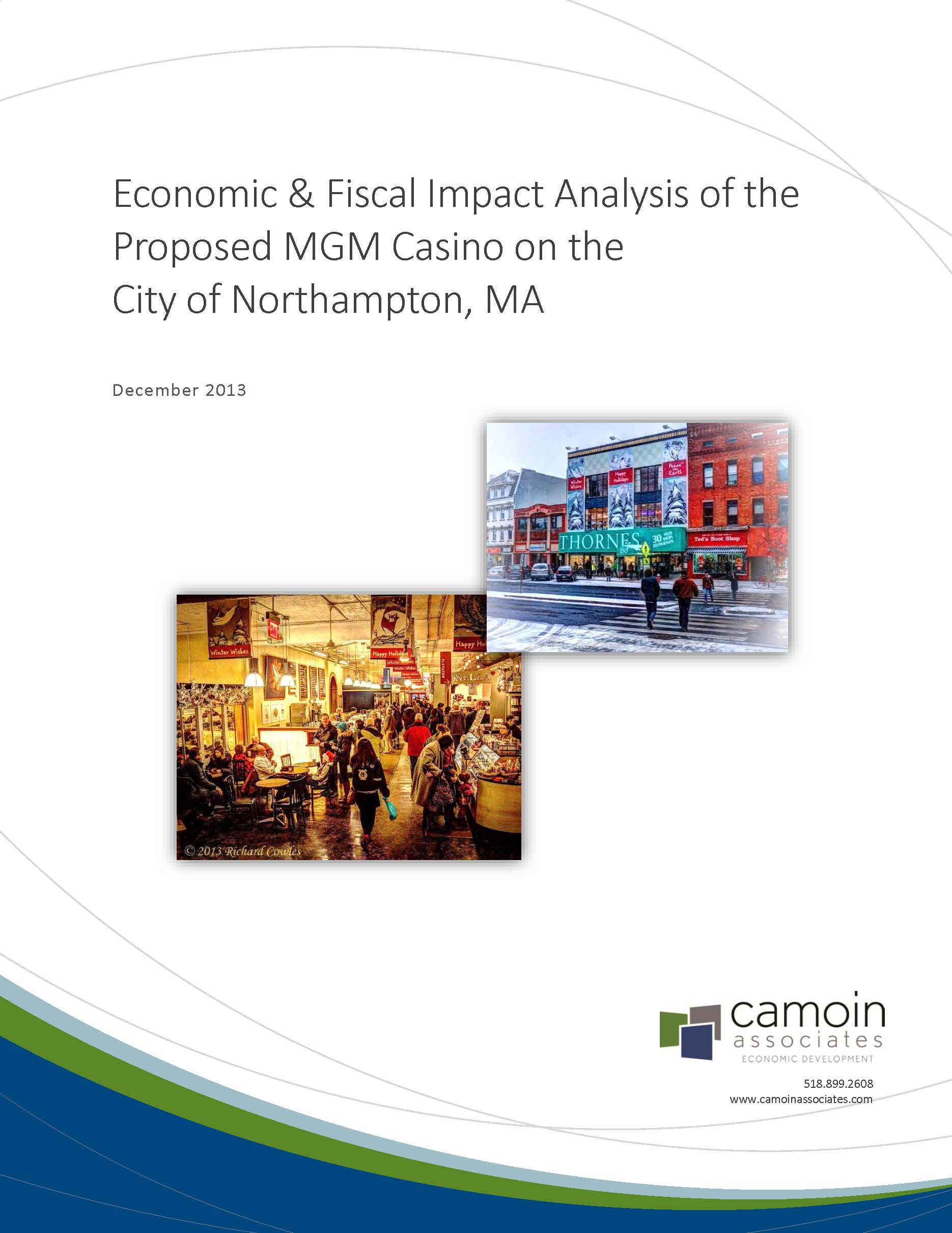 Economic and Fiscal Impact of Proposed MGM casino Camoin cover page