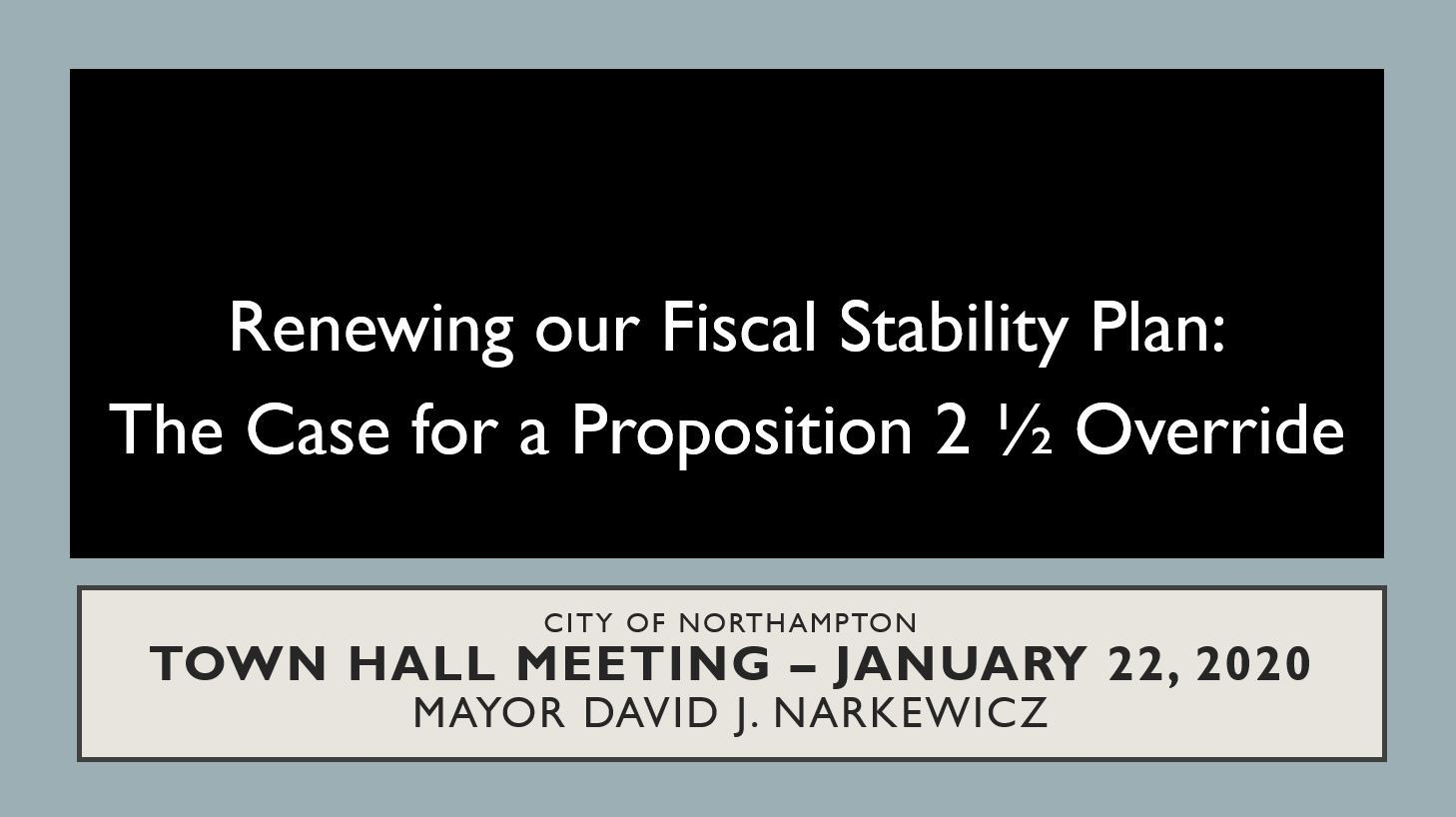 Image of Renewing Fiscal Stability Plan Presentation